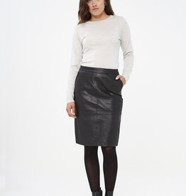 By Bar Amsterdam Basic Leather Skirt black