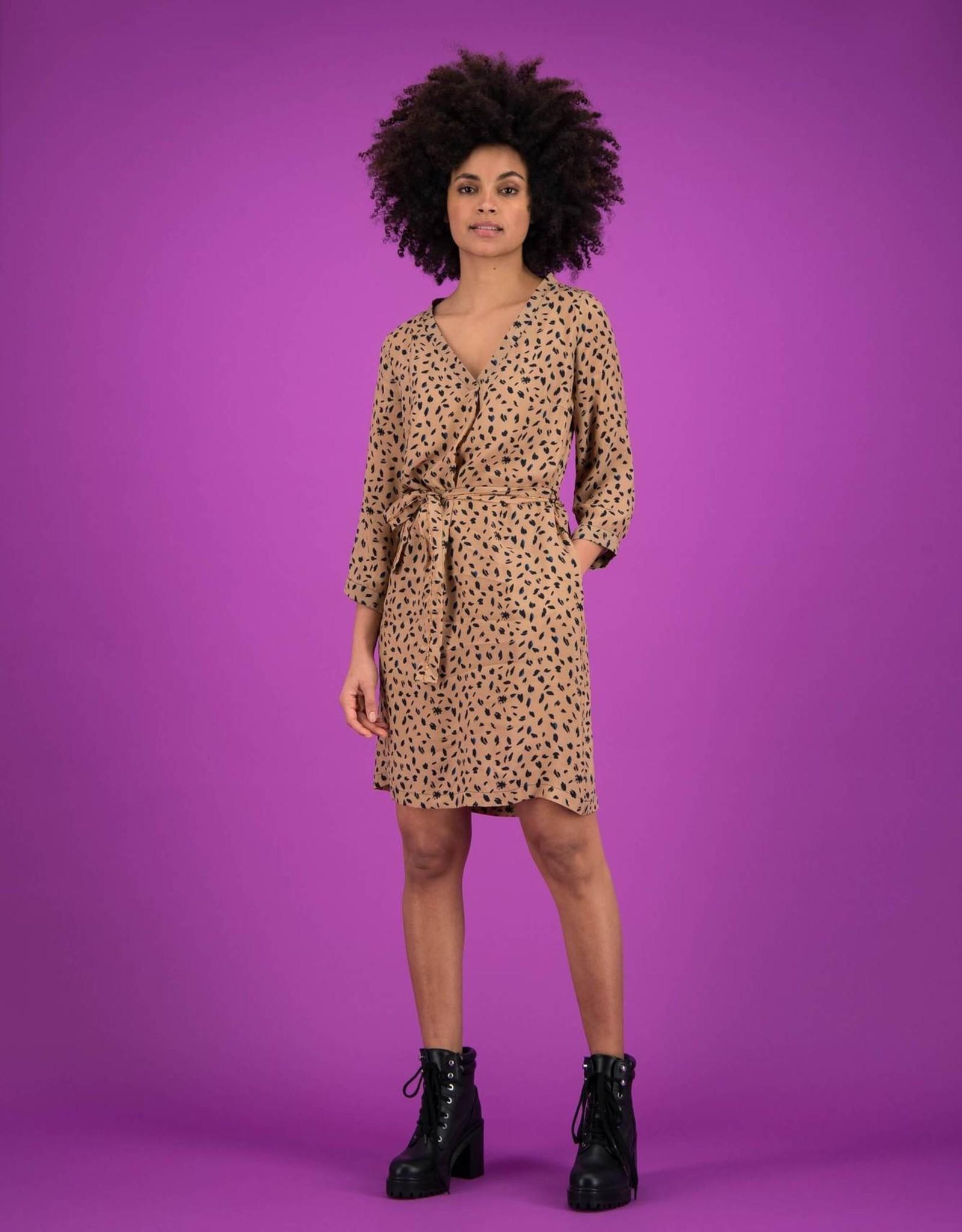 Pom Amsterdam DRESS Leopard Sand