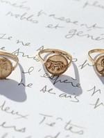 A La Signet ring coin Leopard XS A La