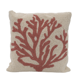 A La Beads cushion coral A La