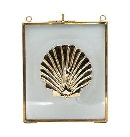 A La Glass frame with brass shell A La