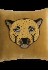 A La Velvet cushion leopard A La