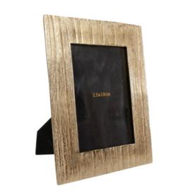 Fotolijst rechthoekig Leonie 13x18 goud 17.5x22.86x1.5cm