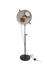 Staande lamp draad goud/zwart metaal 48x48x160cm