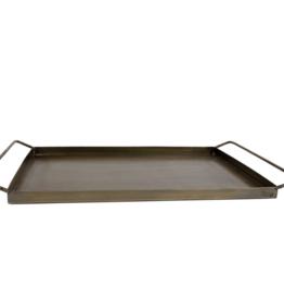 Dienblad rechthoekig James goud metaal 41x25