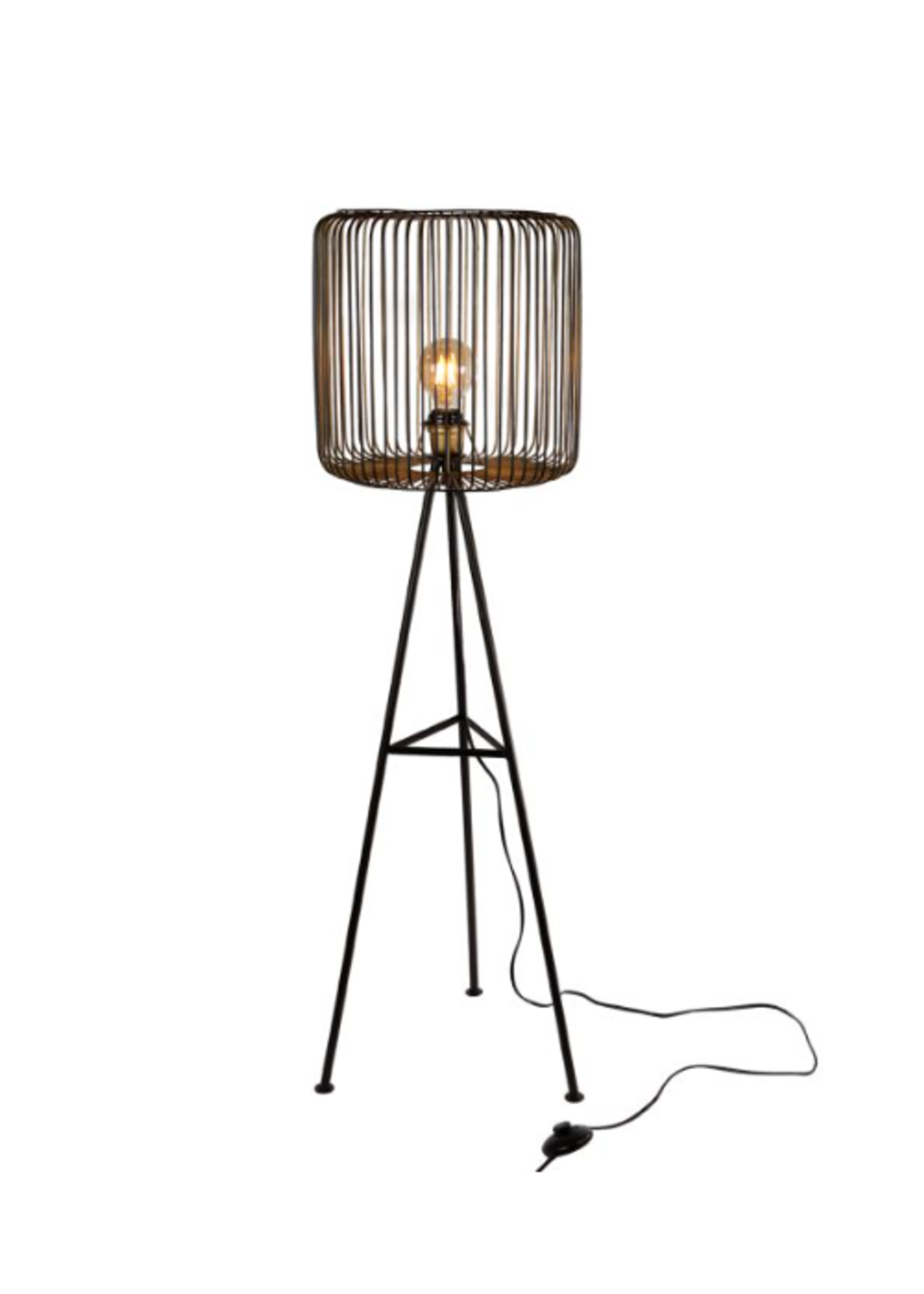 Staande lamp rond shade g40x40x111cm