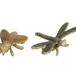 Sculpture insects S groen/amber aluminium 9x9x3cm