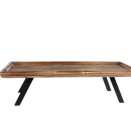 Dienblad Dylan naturel hout 55x22x14.5cm