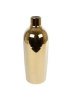 Vaas Lilly L goud aardew 11.5x11.5x30.5cm