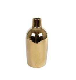 Vaas Lilly M goud aarder 11x11x23cm