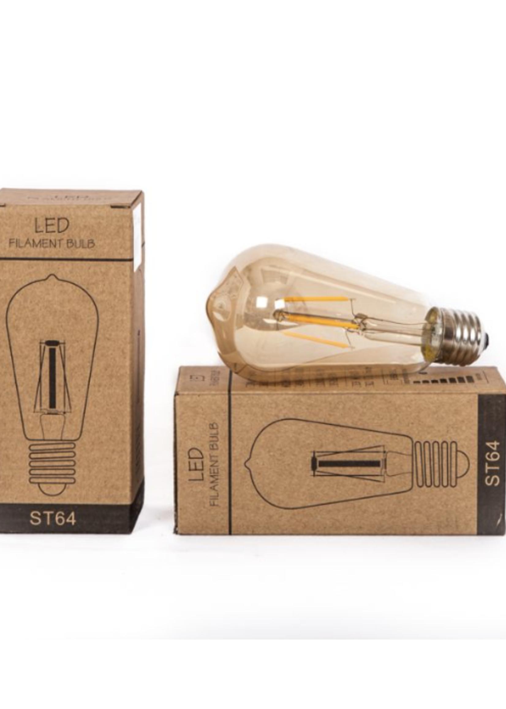 LED-lamp 2W peer model 6,5x6,5x15cm 160LUM 2300K