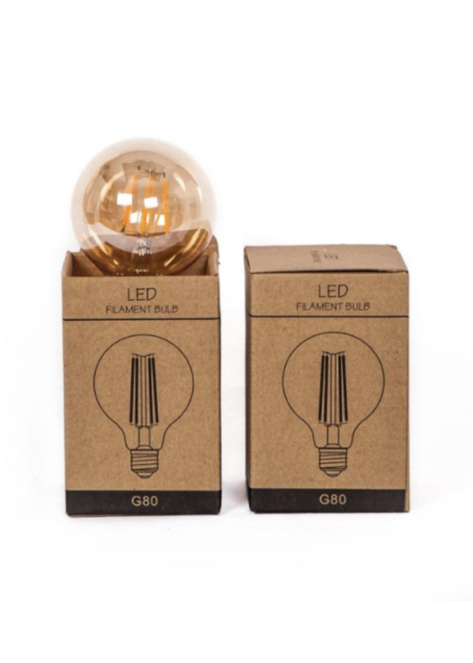 LED-lamp 2W rond model 8,5x8,5x13cm 160LUM 2300K