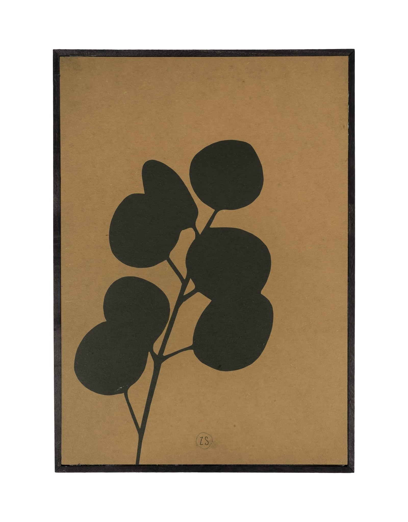 Zusss Schilderij eucalyptus 35x25cm oker