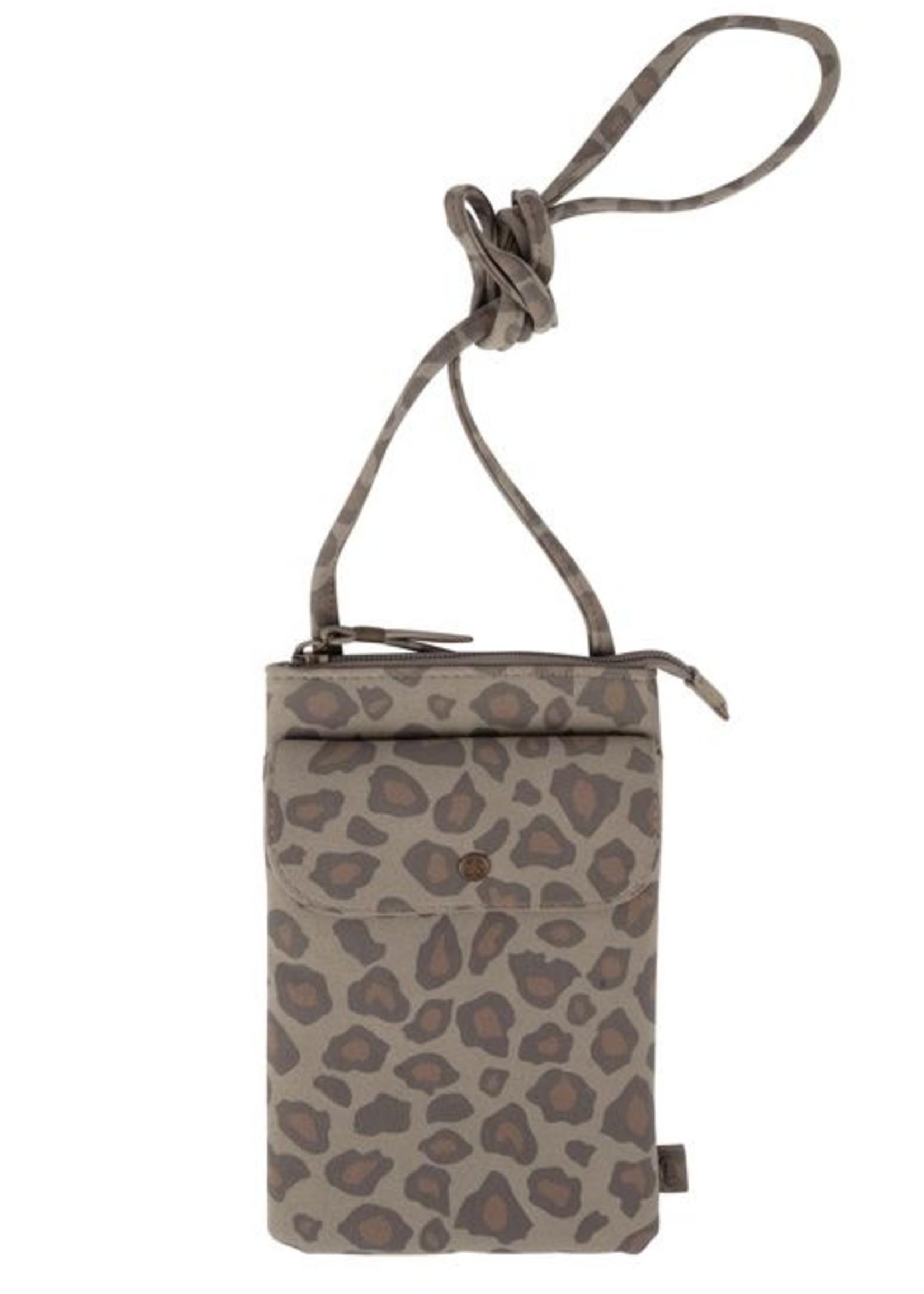 Zusss Handig telefoontasje leopard