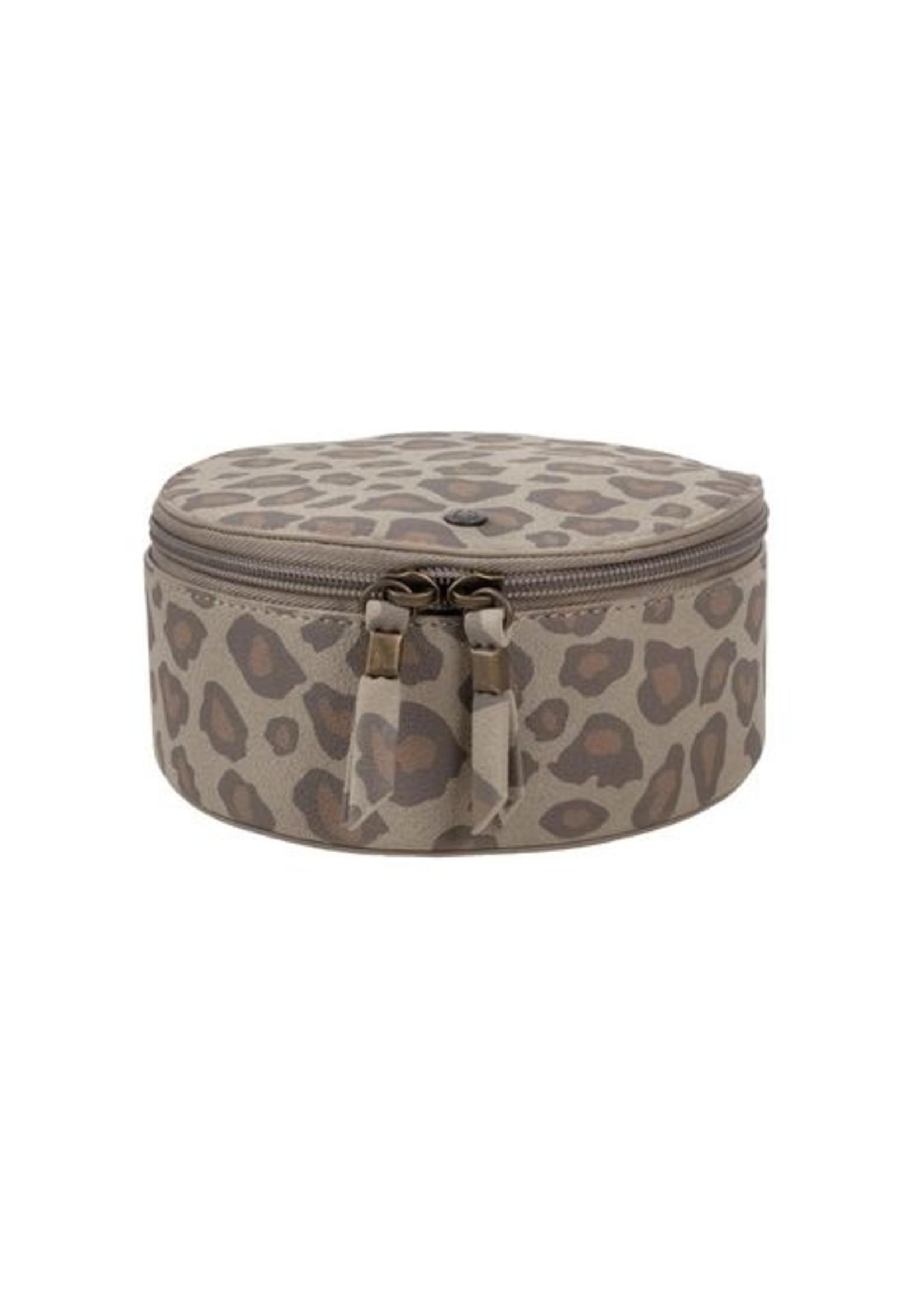 Zusss Make up tasje rond leopard