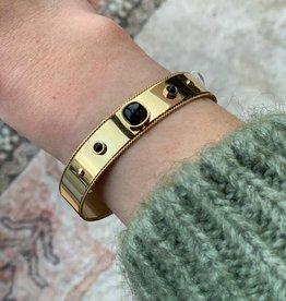 ZAG Bijoux Bracelet - dore noir - gold black - onyx  noir