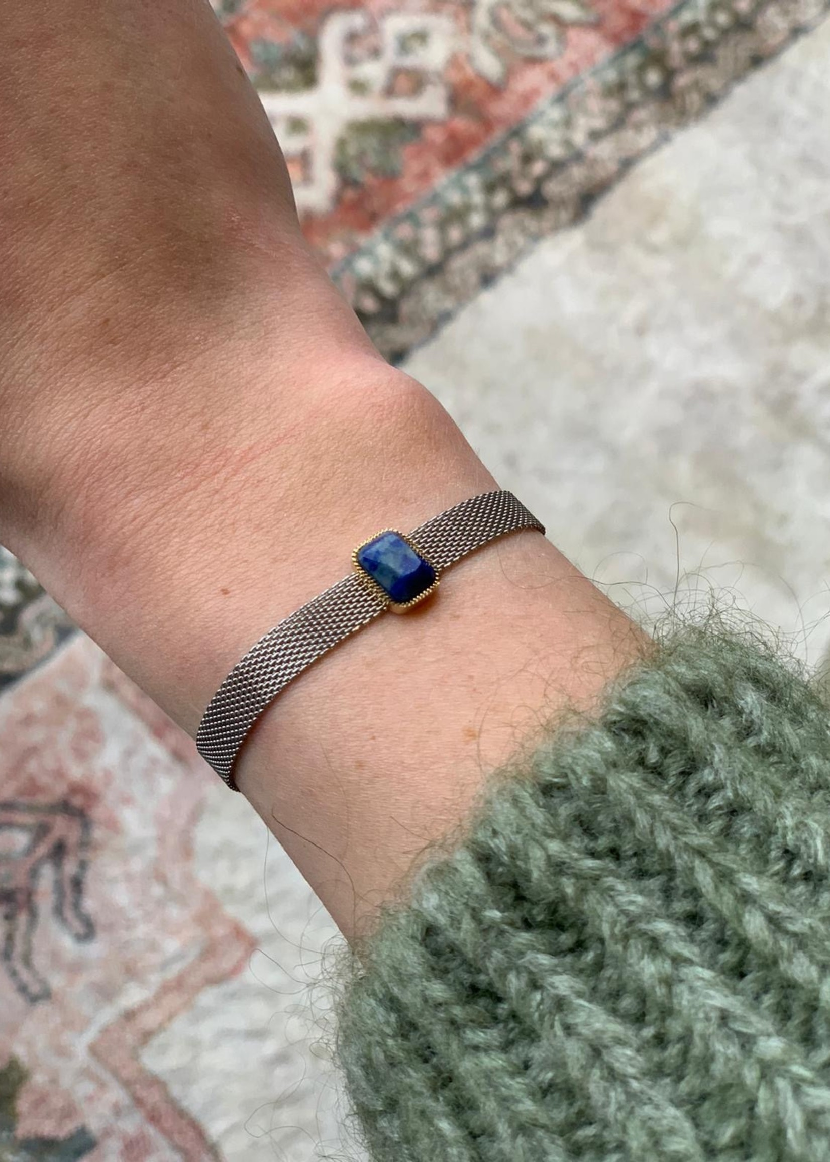 ZAG Bijoux Bracelet - acier marine - steel dark blue - lapis