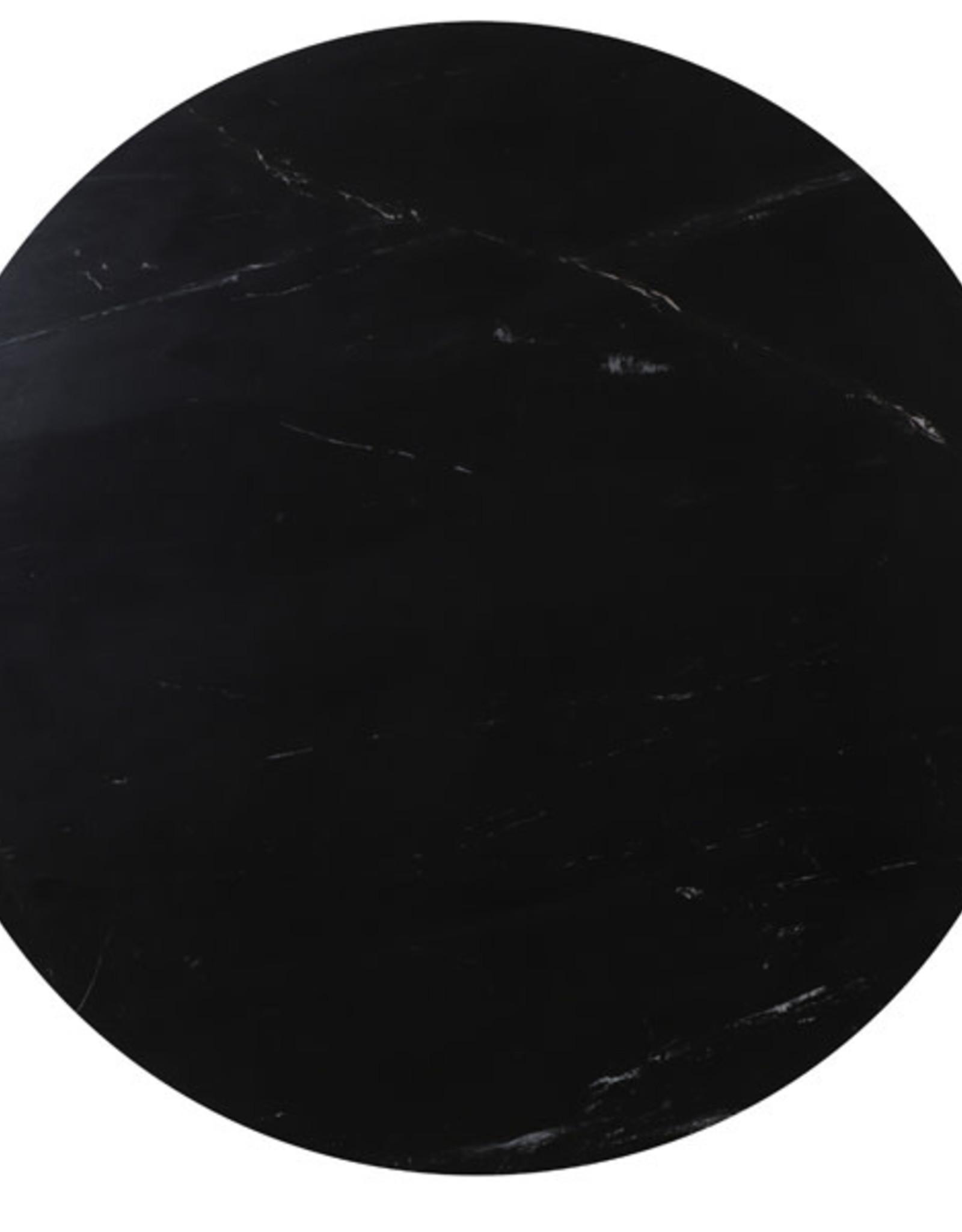 Light & Living Eettafel Tomochi marmer zwart 120x78cm
