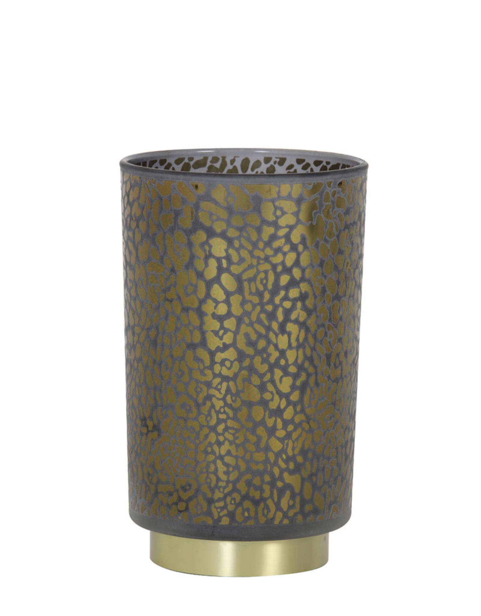 Light & Living Tafellamp LED 12x18cm LEOPARD glas
