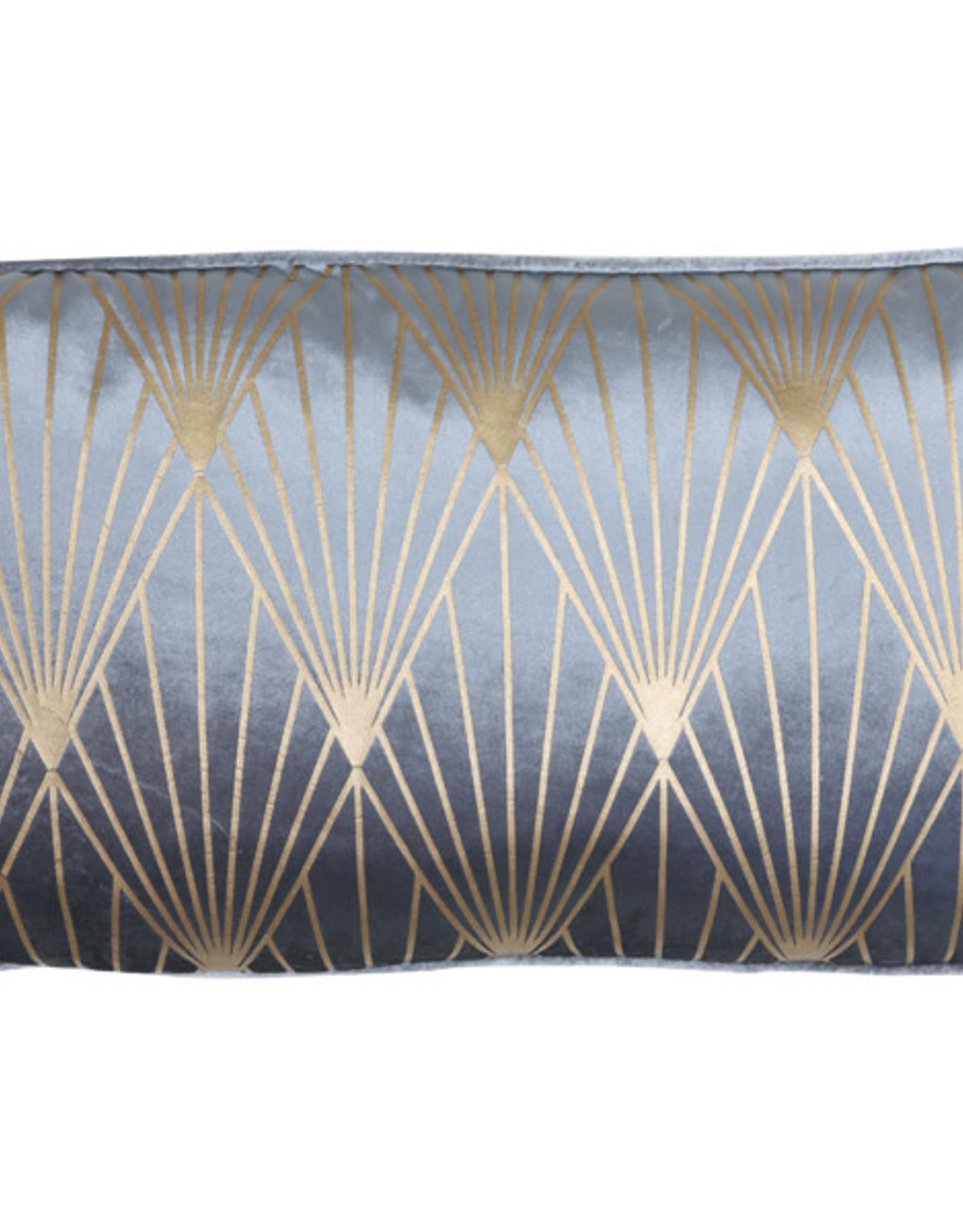 Light & Living Kussen 60x30cm JANISE blauw-goud