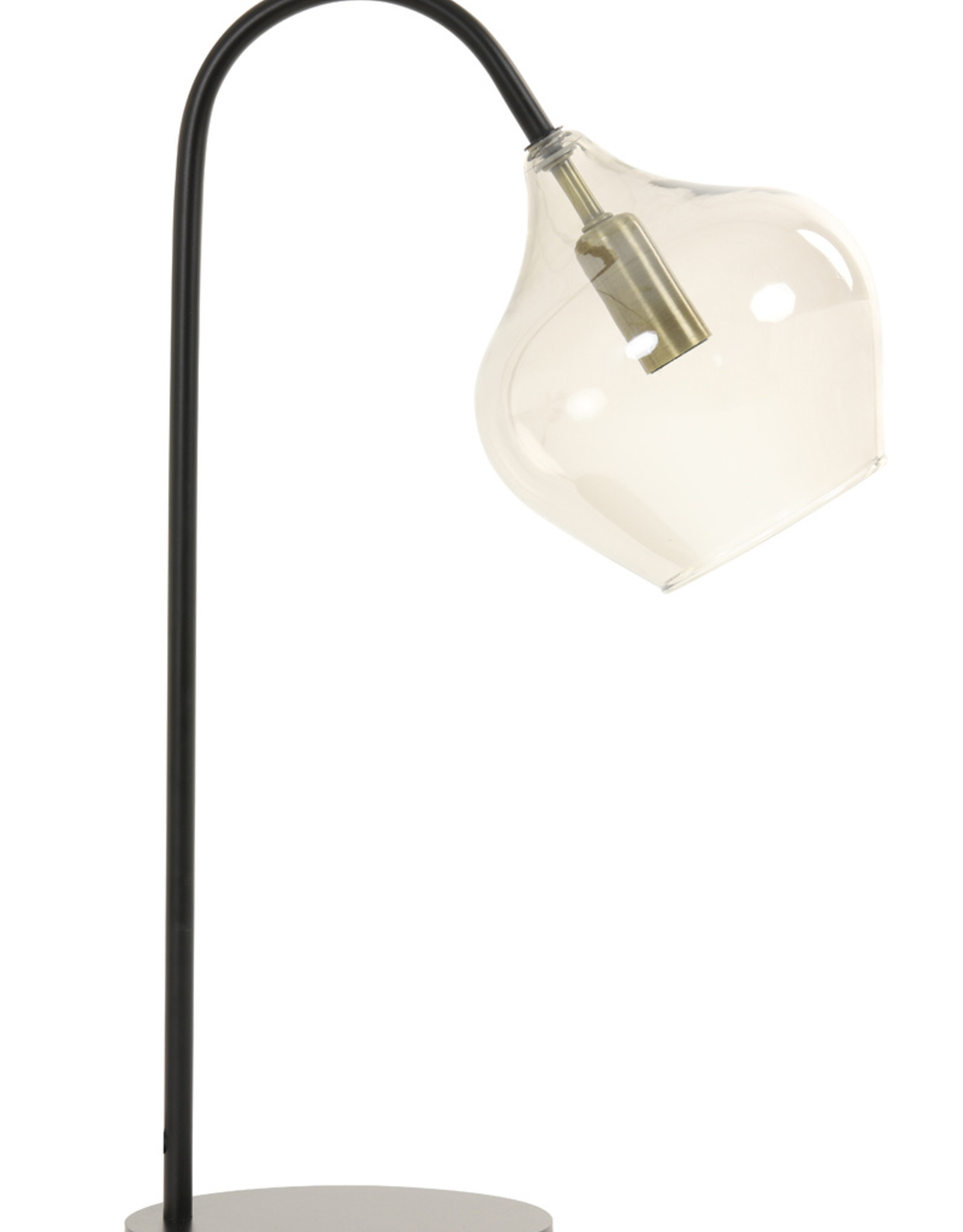 Light & Living Tafellamp E14 28x17x50,5 cm RAKEL mat zwart+smoke