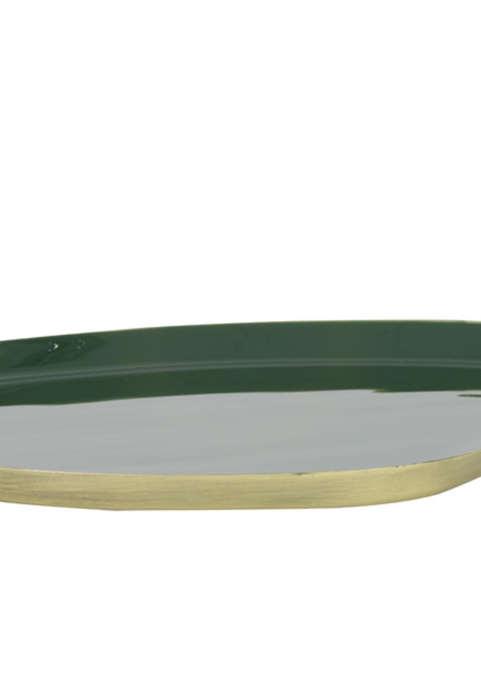 Light & Living Schaal 30x25 cm MOULET groen-antiek bron