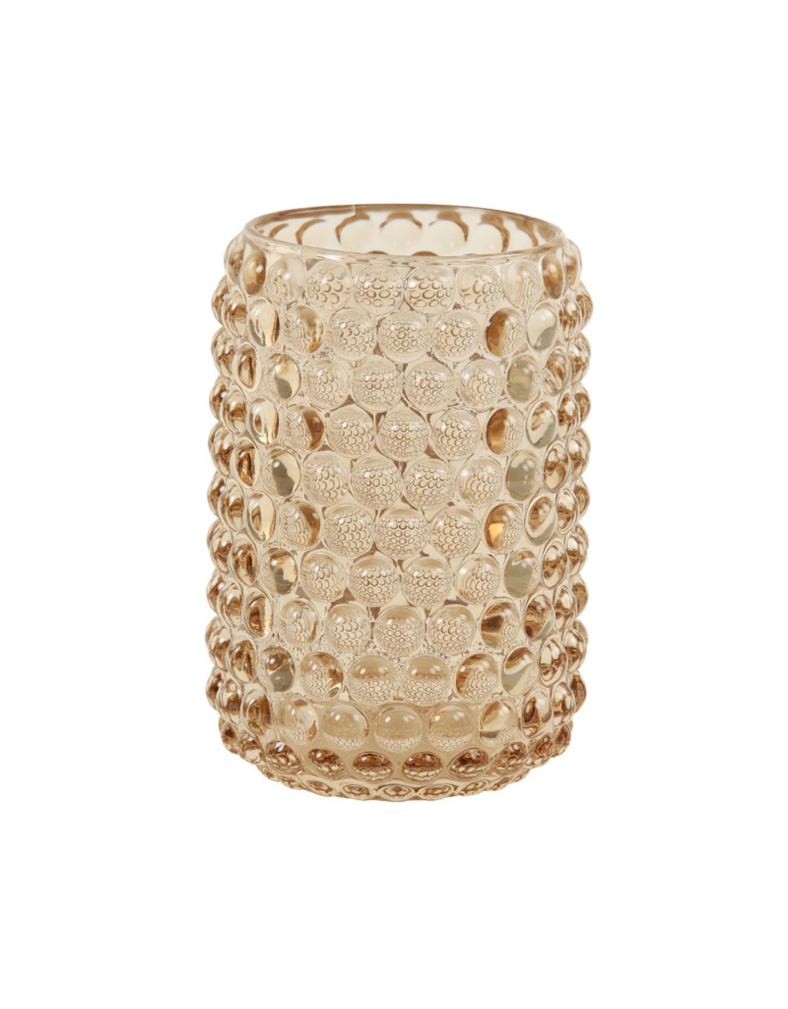 Light & Living Theelicht Ø9x12,5 cm PALET glas karamel