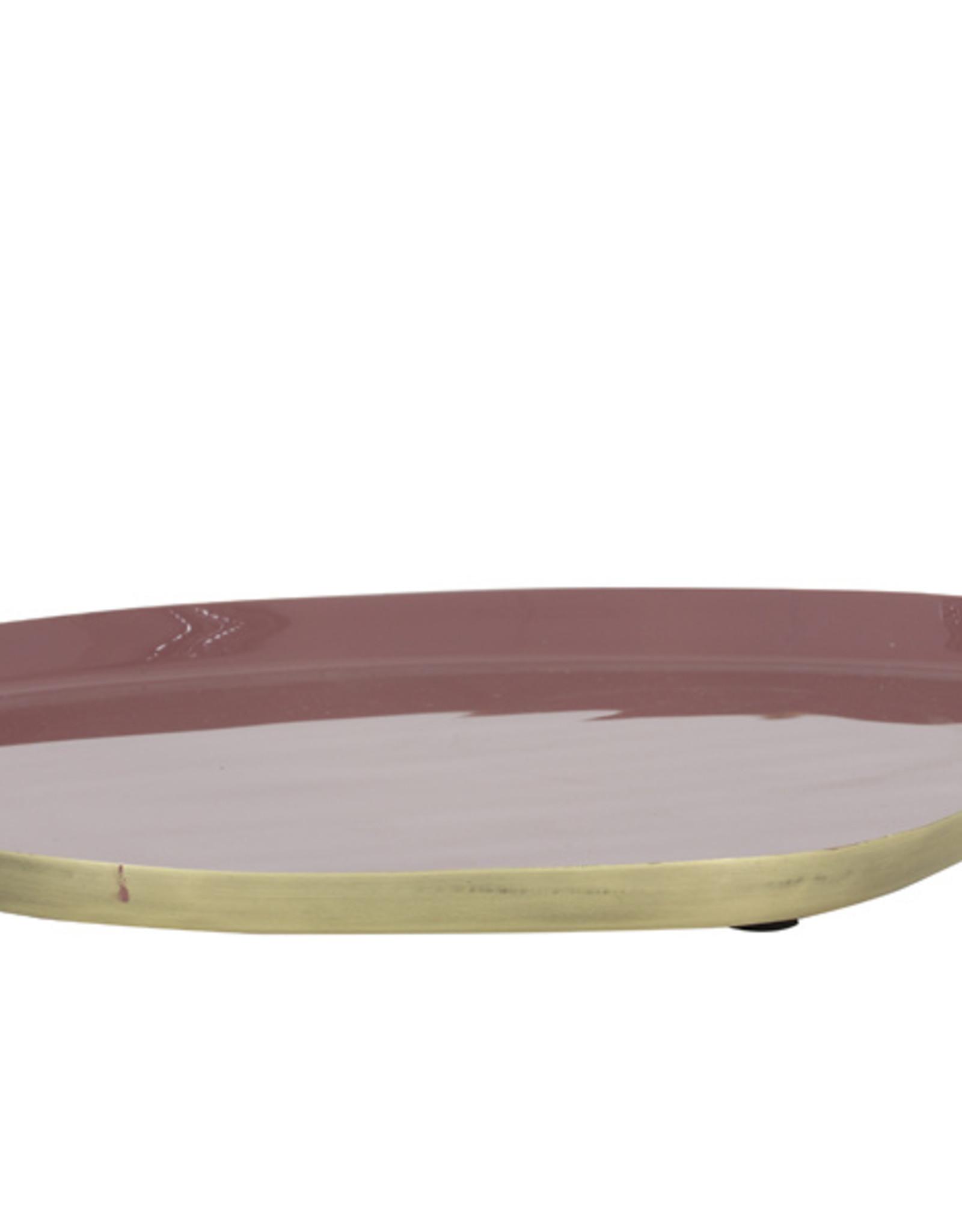 Light & Living Schaal 30x25 cm MOULET oud roze-antiek brons