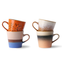 HK living 70's ceramics: americano mugs (set of 4)