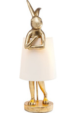 Kare Design Table Lamp Animal Rabbit gold 68 cm