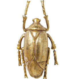 Kare Design Wall decoration beetle gold