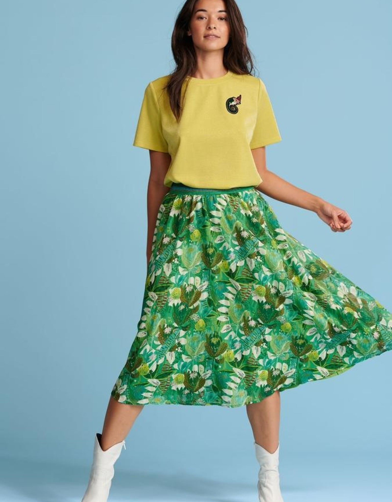 Pom Amsterdam SKIRT ­ Jungle Beats Green