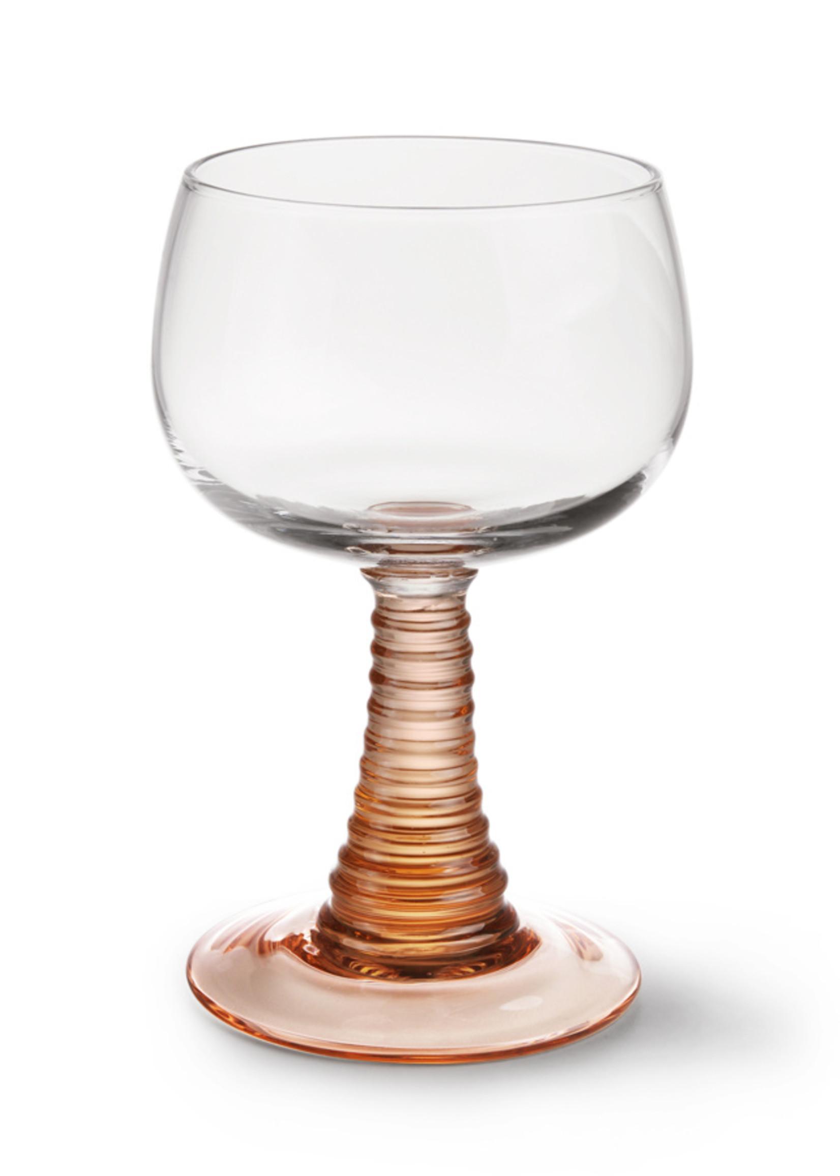 HK living Swirl wine glass nude