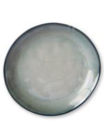 HK living Home chef ceramics: side plate grey/green