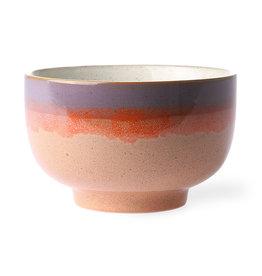 HK living 70's ceramics: noodle bowl sunset