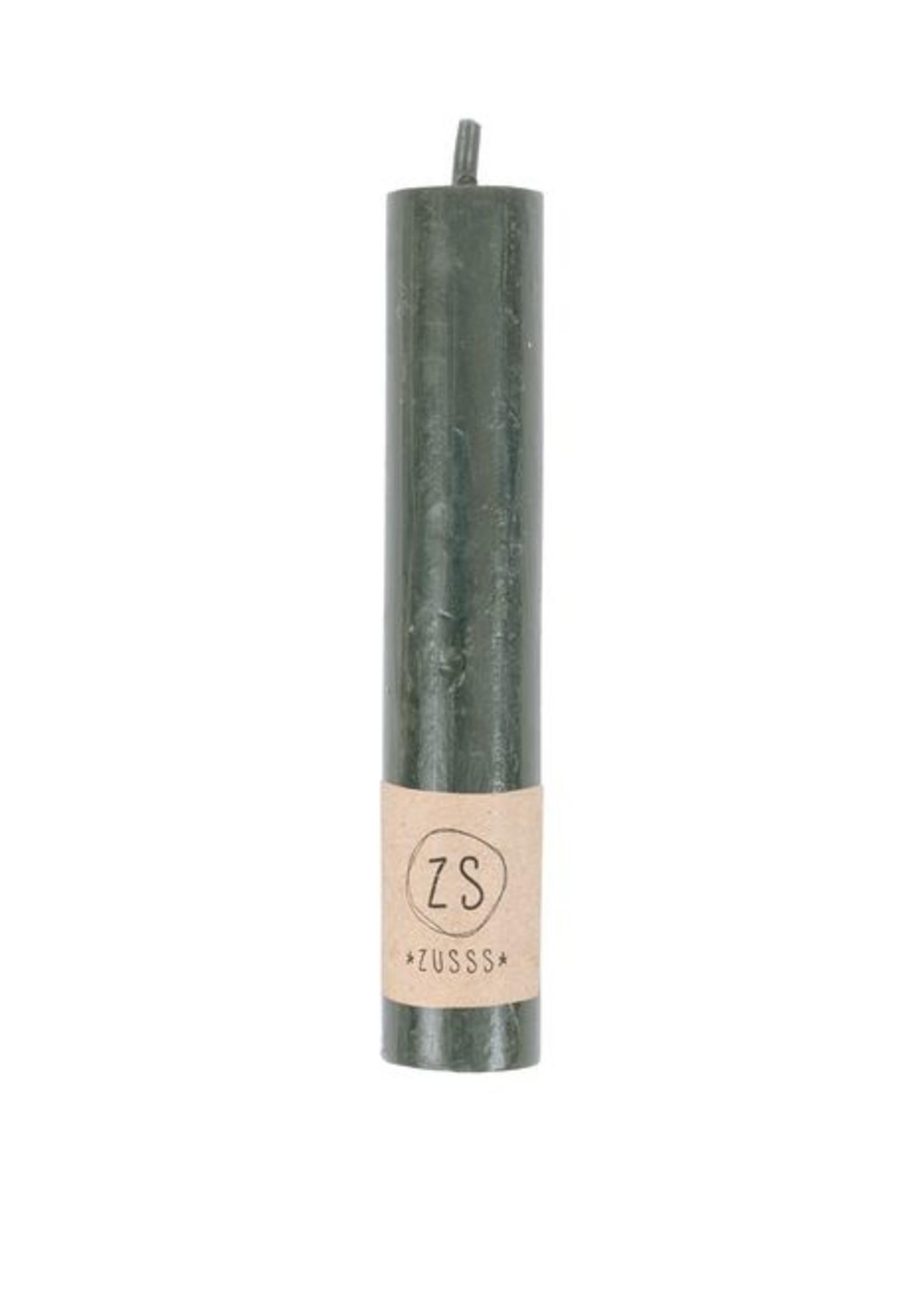 Zusss Rustiek kaarsje 12cm groen