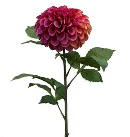 Emerald Eternal Green Dahlia pompon spray tt pink 74cm