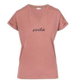 Zusss Basic t-shirt met V-hals voila rouge