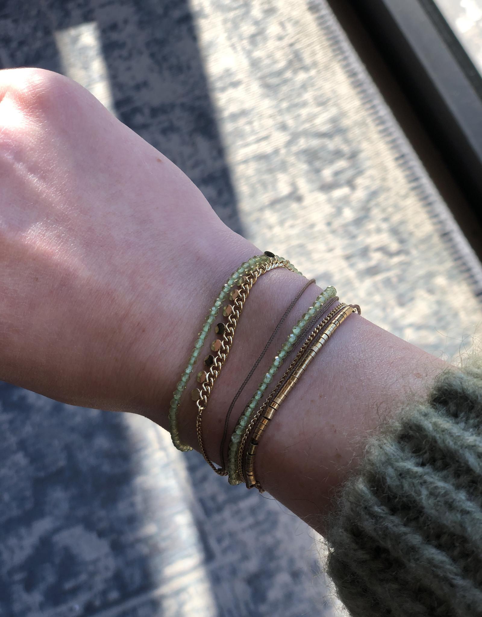 ZAG Bijoux SBX10499 bracelet DORE vert clair - gold lignt green - olivine