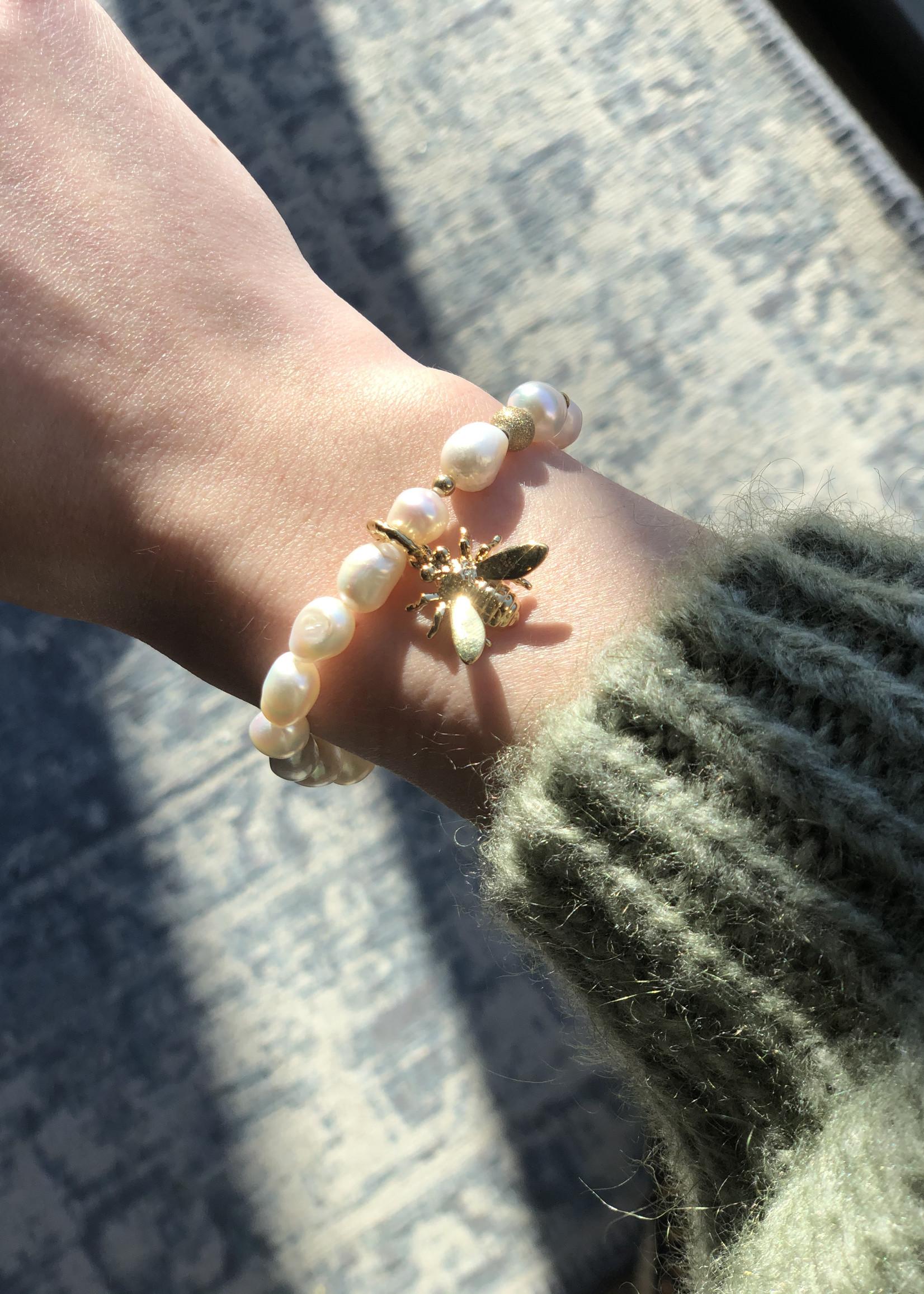 ZAG Bijoux SBR10925 Bracelet DORE Nacre- perle gold shell pearl Nacre