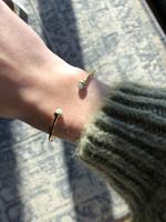 ZAG Bijoux SBJ5545 Bracelet DORE Auqua Amazonite