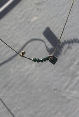 ZAG Bijoux SNS7563 Necklace DORE vert - gold green - malachite