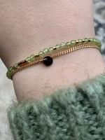 ZAG Bijoux Bracelet DORE vert clair - gold light green - olivine