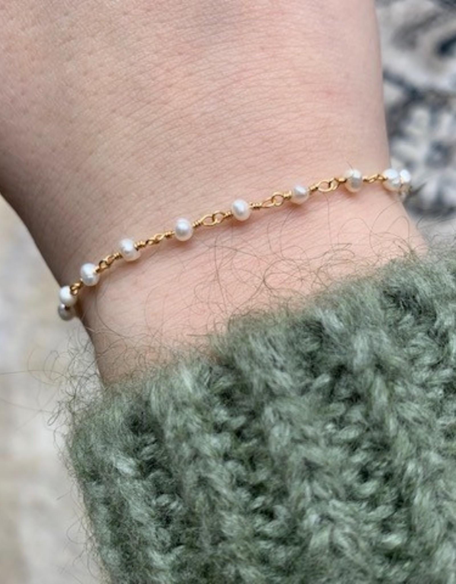ZAG Bijoux Bracelet DORE narce-perle - gold shell pearl