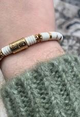 ZAG Bijoux Bracelet DORE blanc - gols white