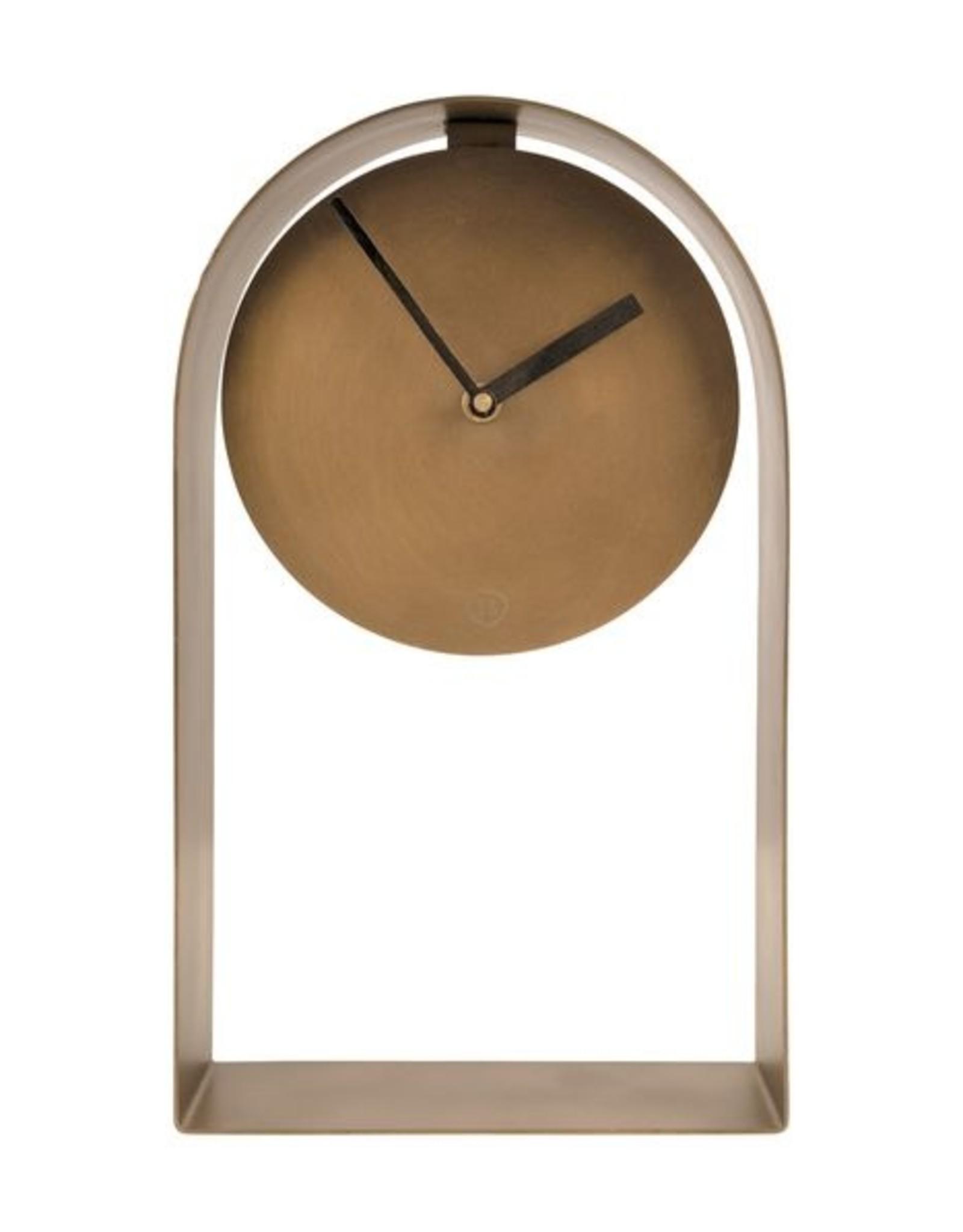 Zusss Tafelklok 30x17x5cm brons