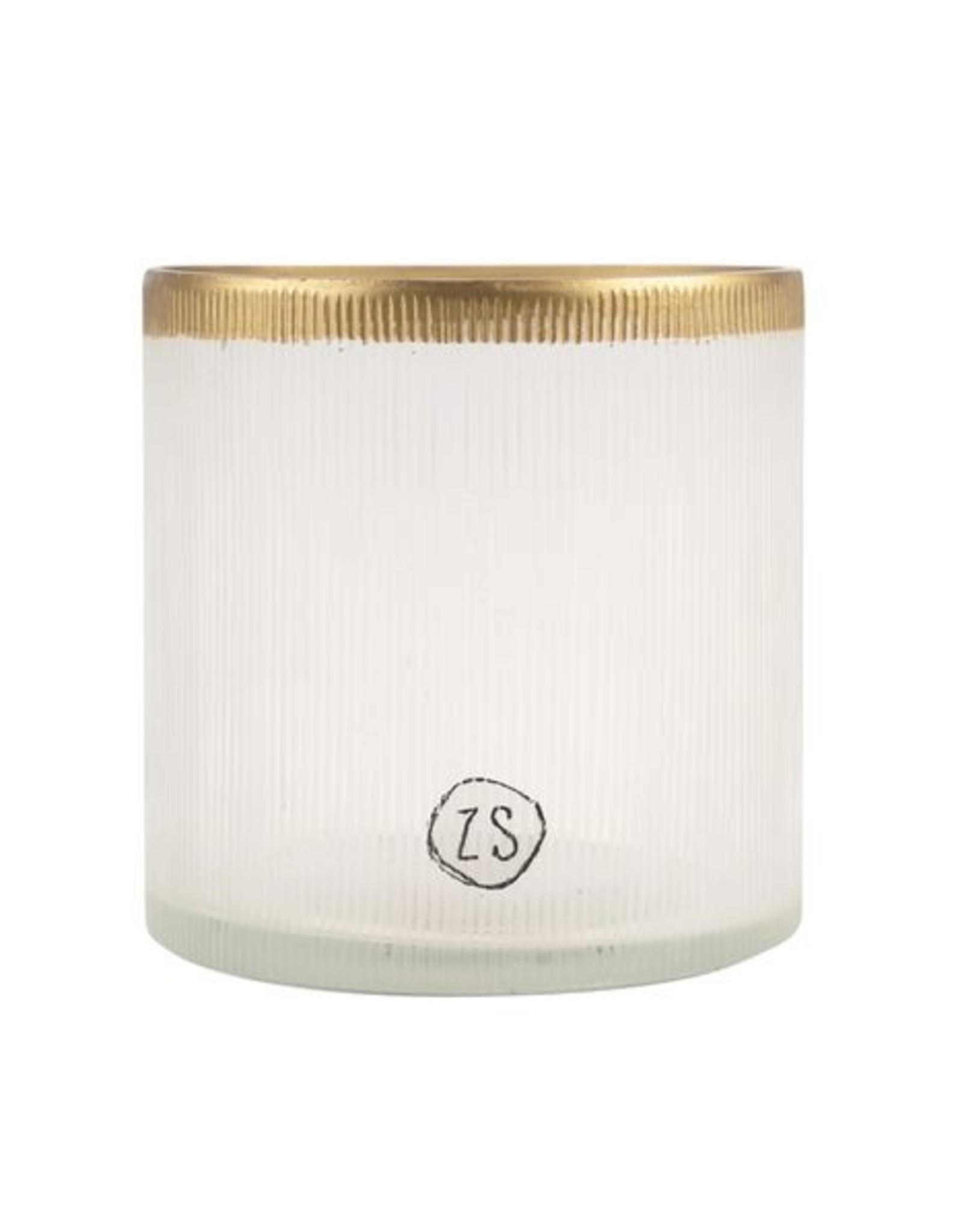 Zusss Waxinelichthouder glas goud