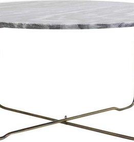 Light & Living Salontafel Ø65x33 cm MARTY marmer grijs-antiek brons