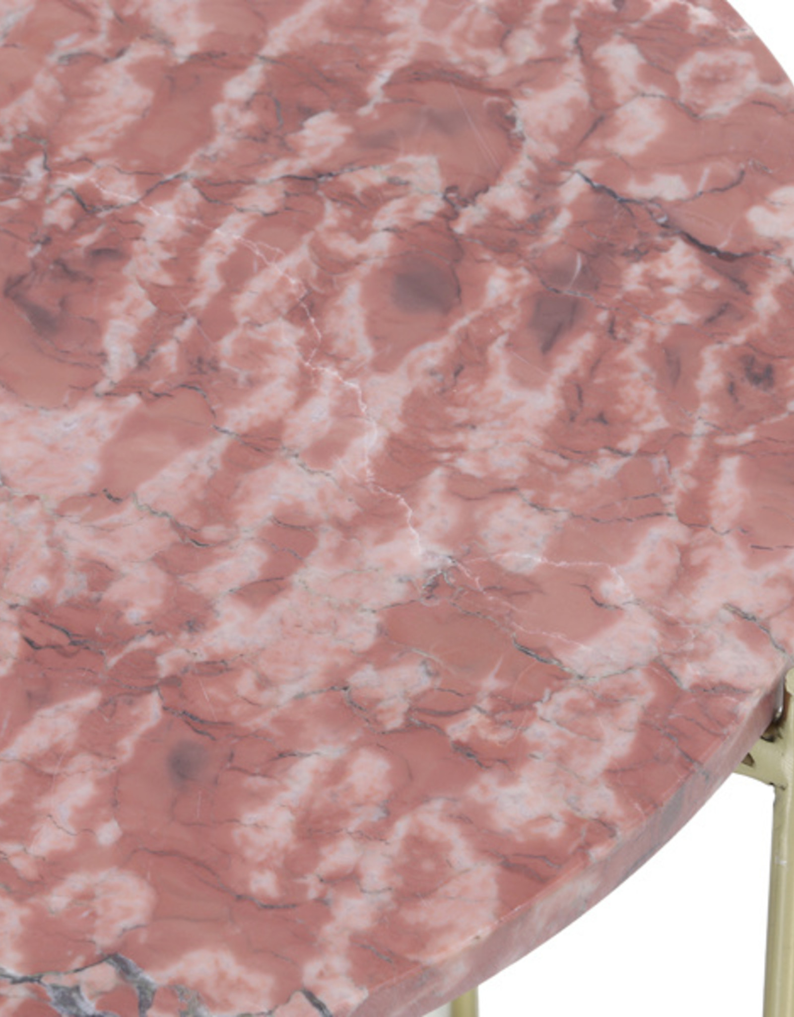 Light & Living Bijzettafel Ø49,5x50,5 cm DELON marmer roze-goud