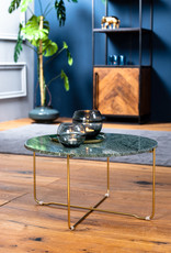 Light & Living Salontafel Ø65x33 cm MARTY marmer groen-goud